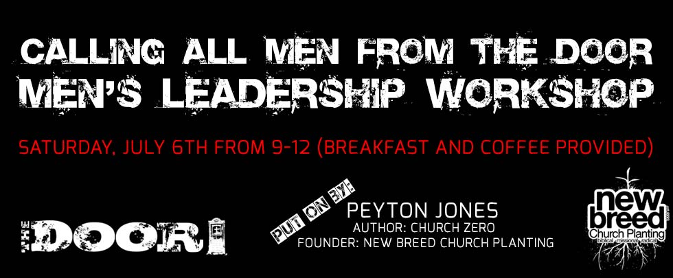Men's Leadership Workshop invitation at The Door